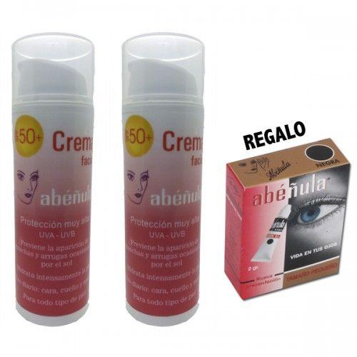 Pack 4:  2 Cremas Solar Facial + REGALO de 1 Abéñula pequeña (a elegir)