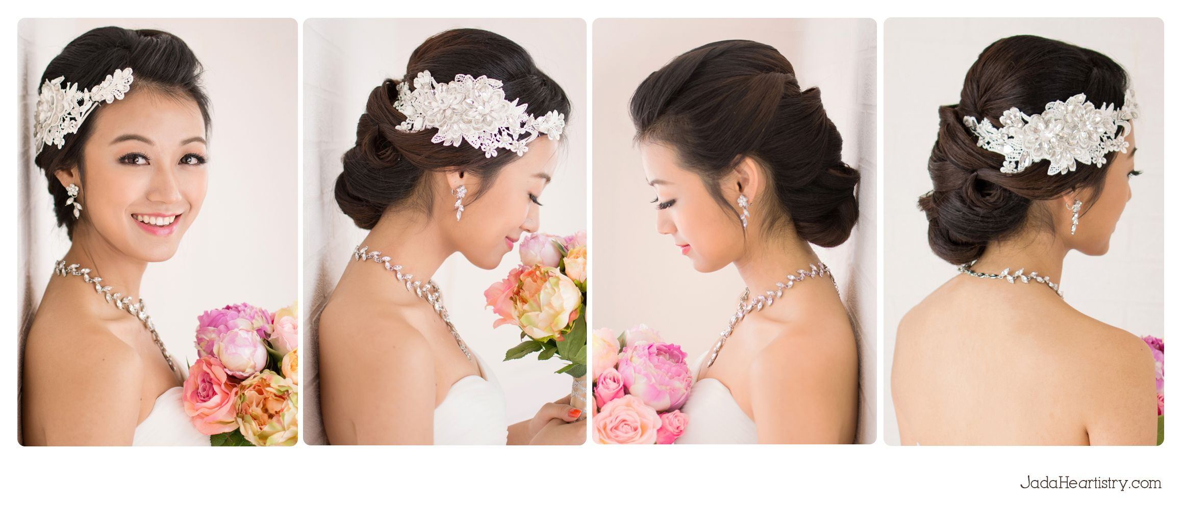 chinese #simple and #sweet #bride with updo hair from