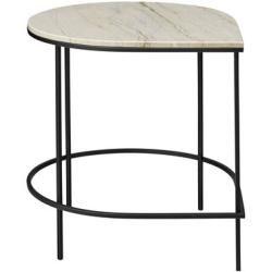 Tischplatte Schwarz Ø50 cm Marmor