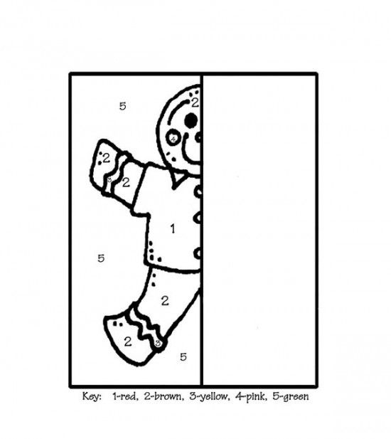 Gingerbread Man Coloring Pages Picture 11 | NAVIDAD | Pinterest ...
