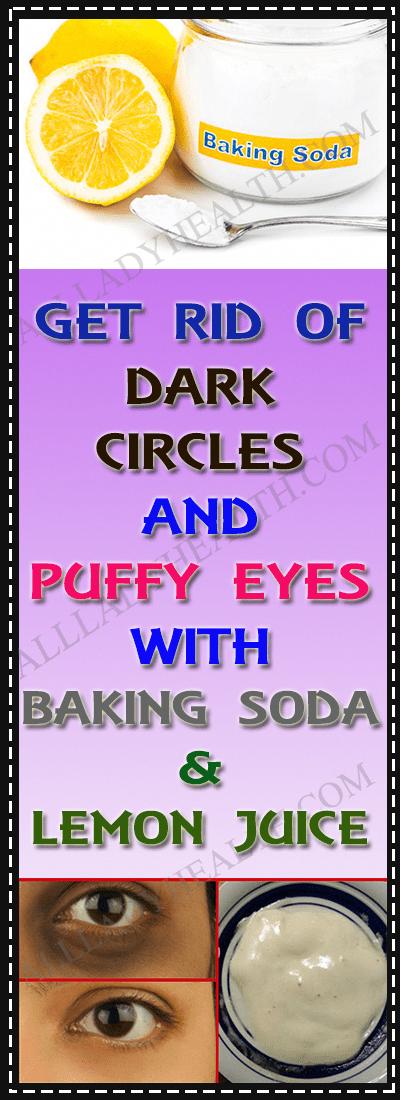 Remove Dark Circles & Under Eye Bags & Baking Soda & Lemon!!!  #wieghtloss  #fitness #BakingSodaFace...