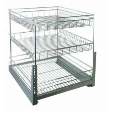 Gelmar Handles Furniture Fittings Basket Chrome 3 Tier