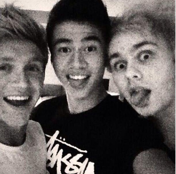 Niall, Calum, and Michael last night!