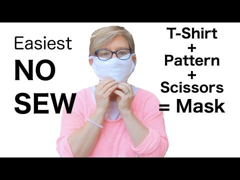 Easiest NO SEW Face Mask - T-Shirt, Pattern, Scissors - INGENIOUS #fabricmask #facemask #nosew