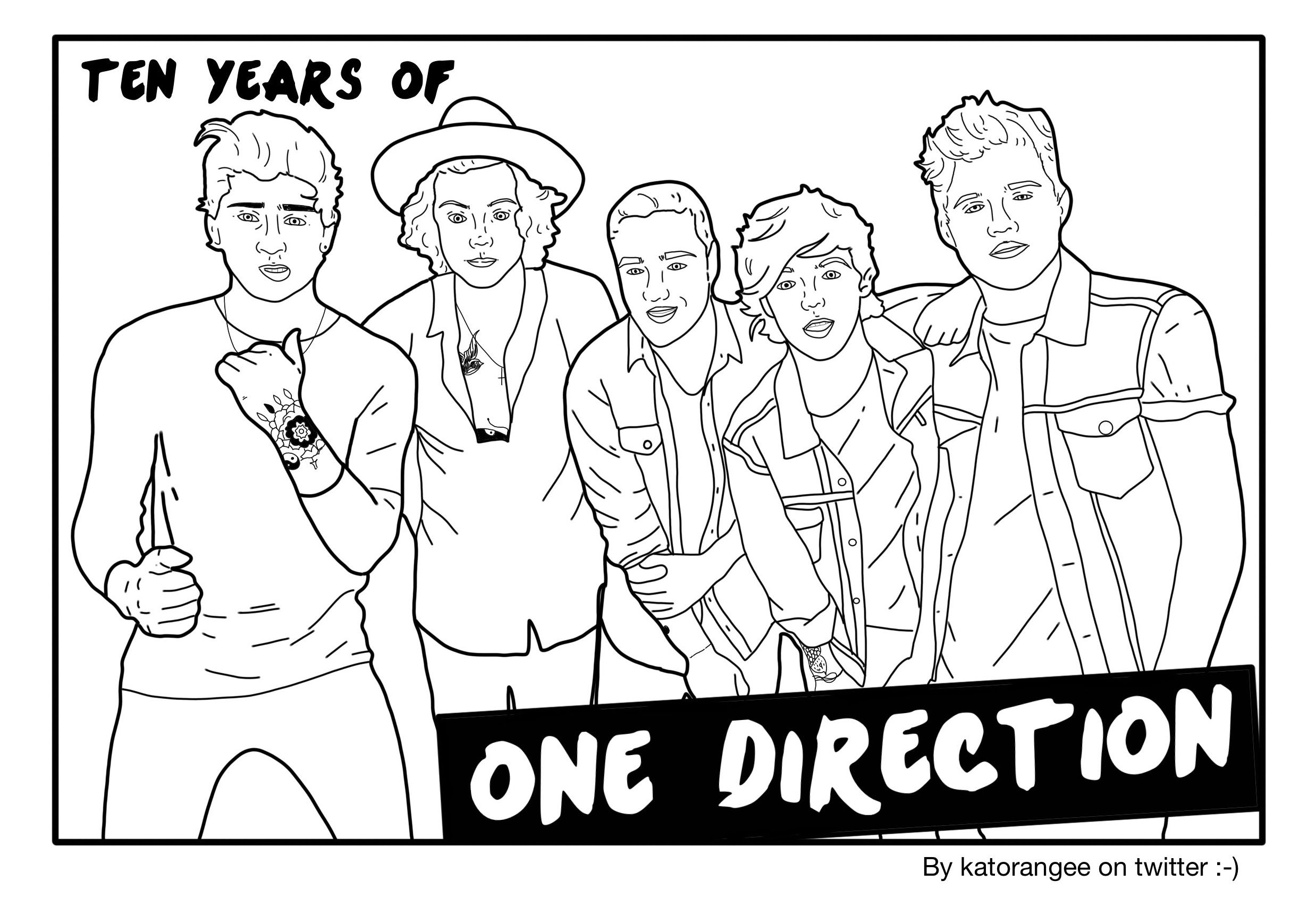 One Direction Coloring Page One Direction Drawings One Direction Coloring Pages