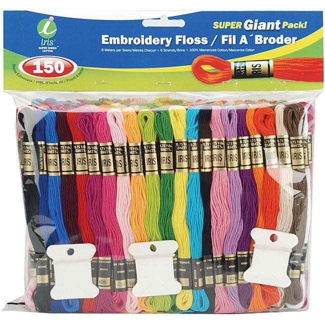 150-Pack Iris 1275 Craft Thread Super Giant Pack
