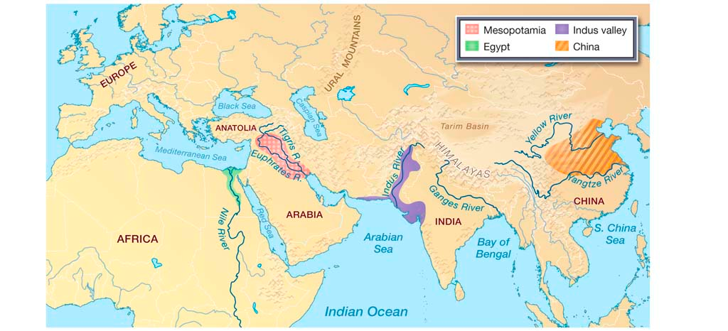 Location of the mesopotamian civilization