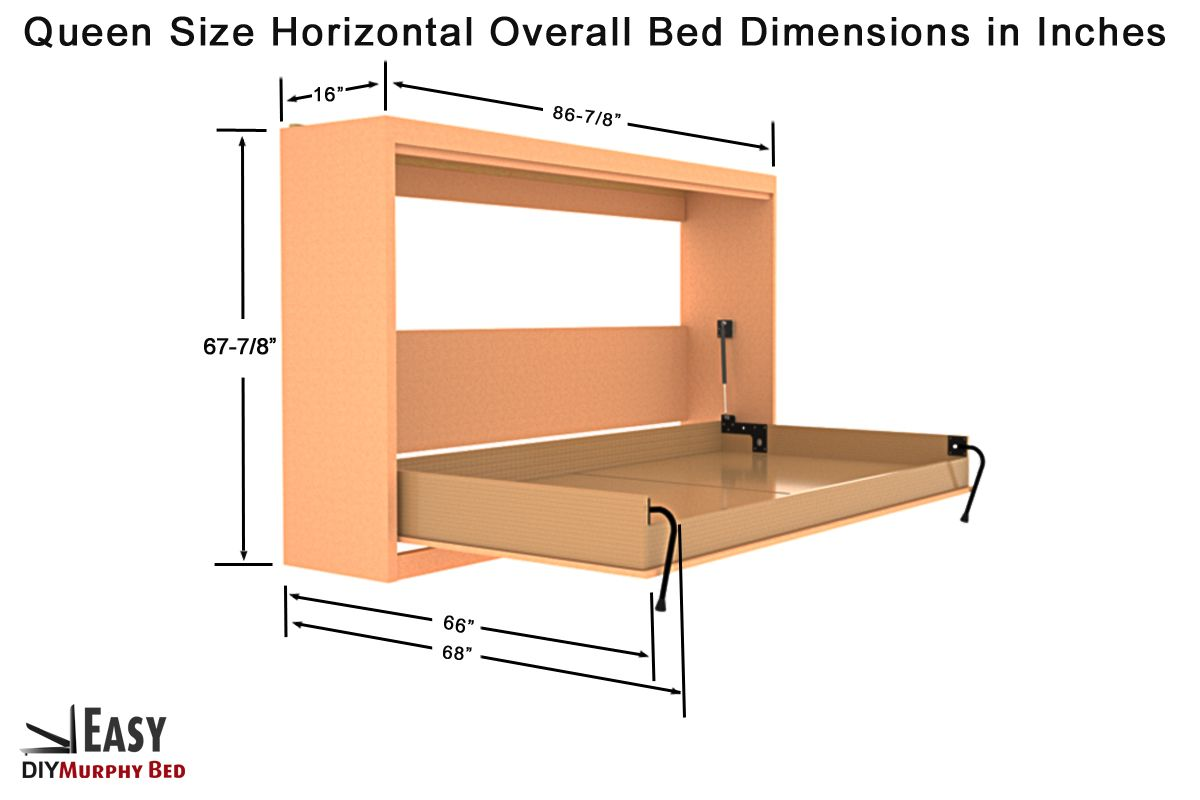 Kampa Easy Horizontal Murphy Bed Hardware Kit For Queen Size Mattress