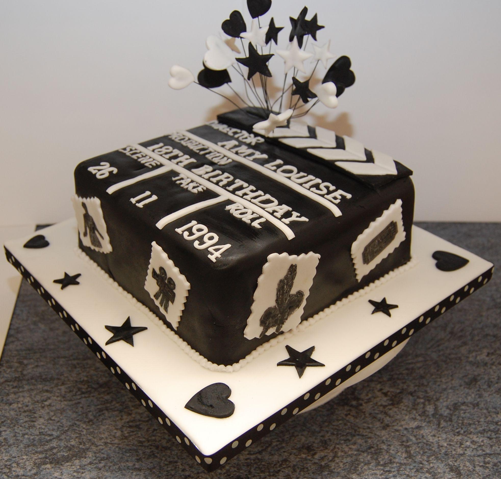 Movie Clapper Board Cakes Clapper Board Film School Graduation - Movie themed birthday cake