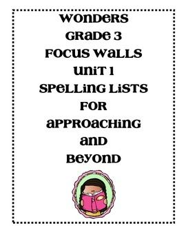 These are the Approaching and Beyond focus walls for those