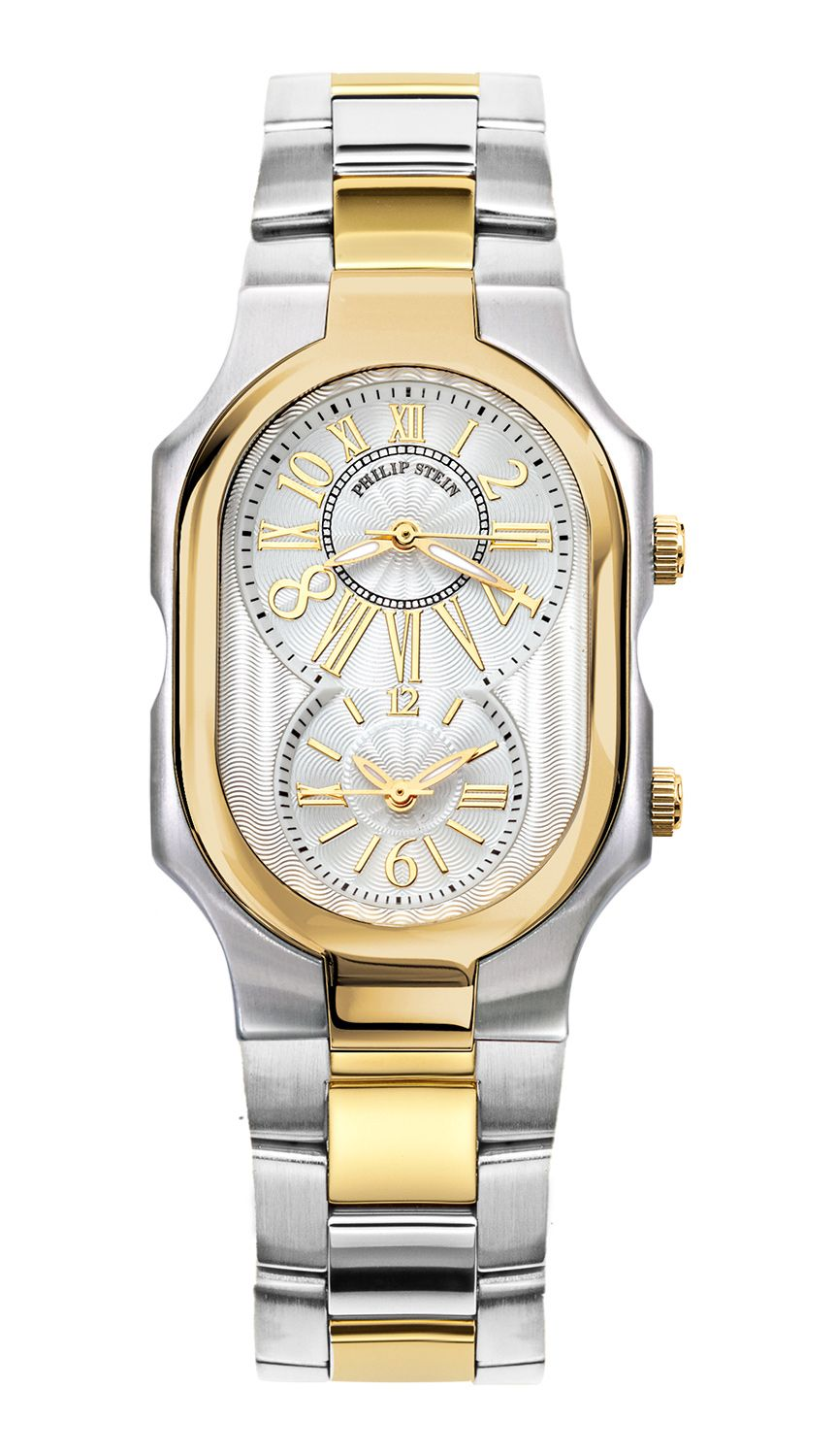 Philip Stein Large Two Tone Yellow Gold Case Timepieces Fossil Cecile Multifunction Stainless Steel And Acetate Watch Am 4632 Natural Frequency Mens Watches Luxury