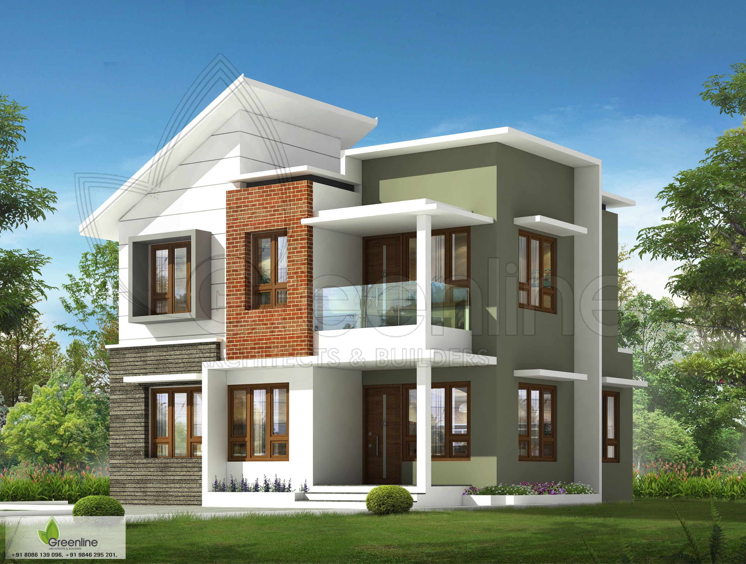 Low Budget House Design Greenlinearchitects Modern Modernist Architizer Exteriordesign Reside With Images Kerala House Design Architecture House House Design