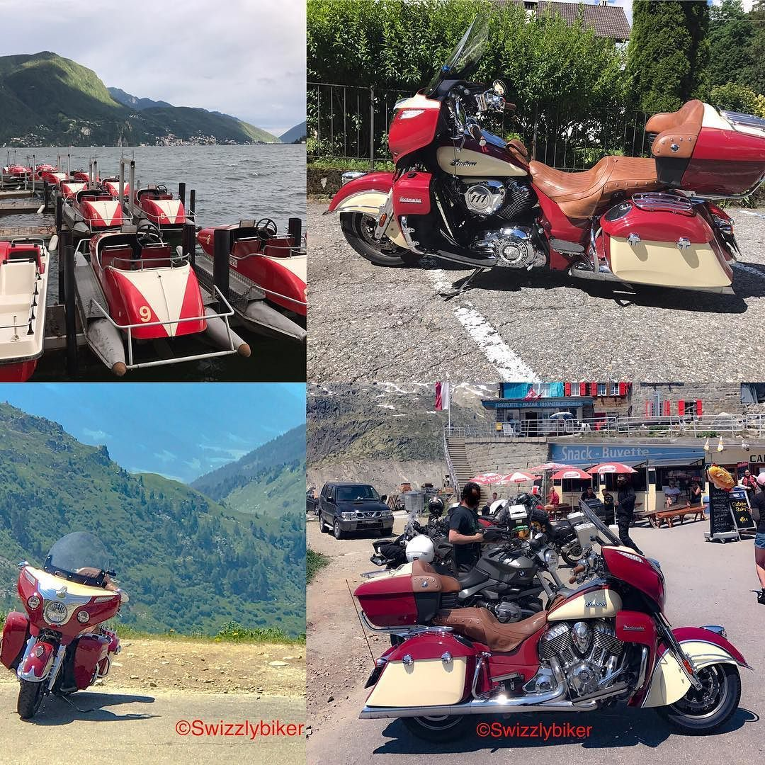When bikes & boats share their colour. #redandivory #boat #boats #pedal #pedalboat #pedalboats #motorcycle #motorcycles #motorbike #motorbikes #motorcyclesofinstagram #motorbikesofinstagram #layout #layoutapp #indianmotorcycle #indianmotorcycles #indianroadmaster #roadmaster #tessin #ticino #switzerland #instagood #instaphoto #instapic