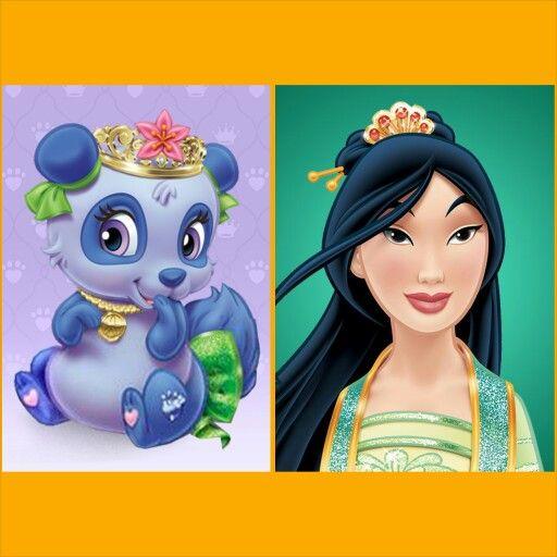 Mulan With Blossom Panda Disney Palace Pets Disney Princess