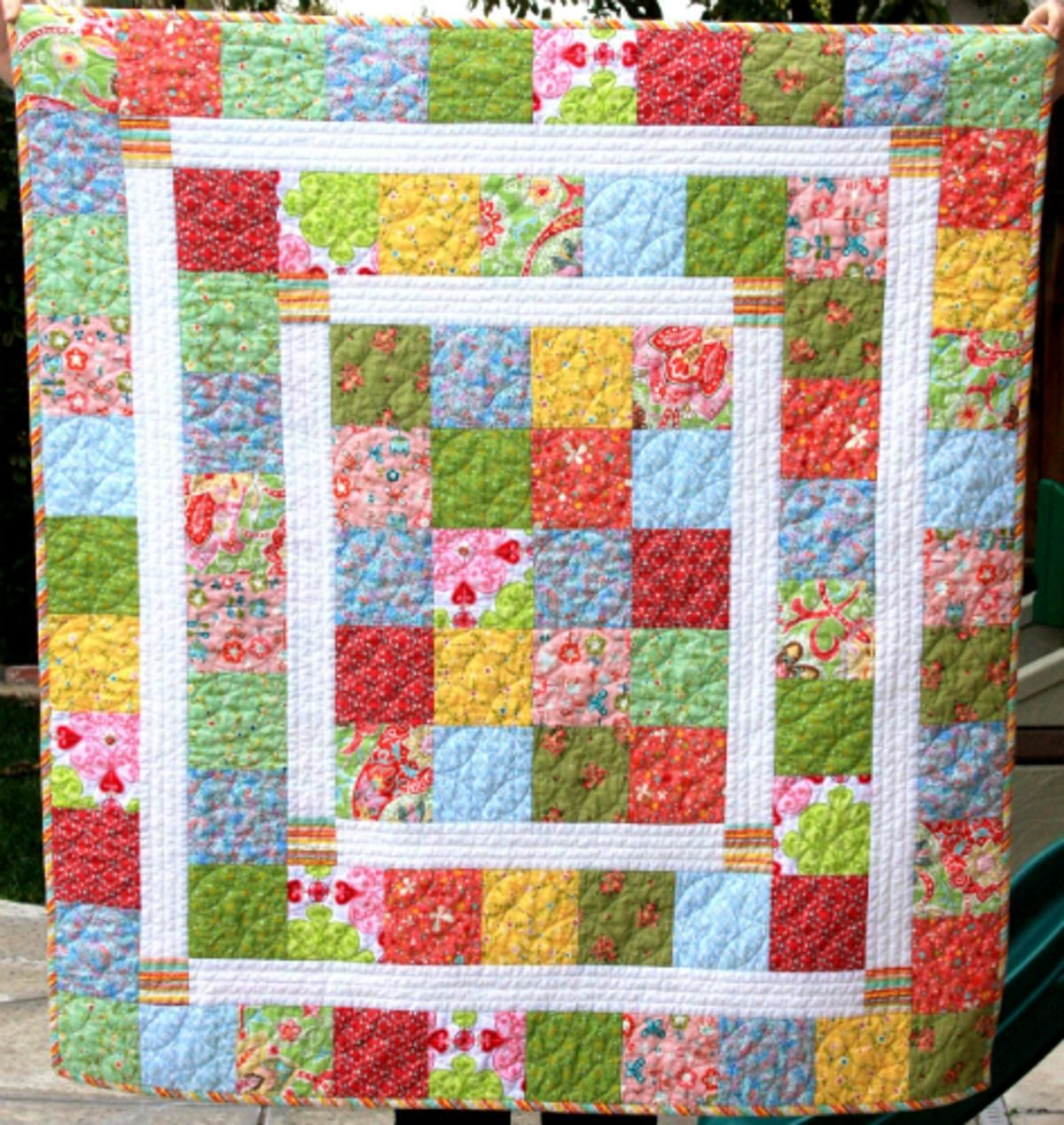 Baby crib quilt patterns free - Free Quilt Pattern Kelsey Baby Quilt