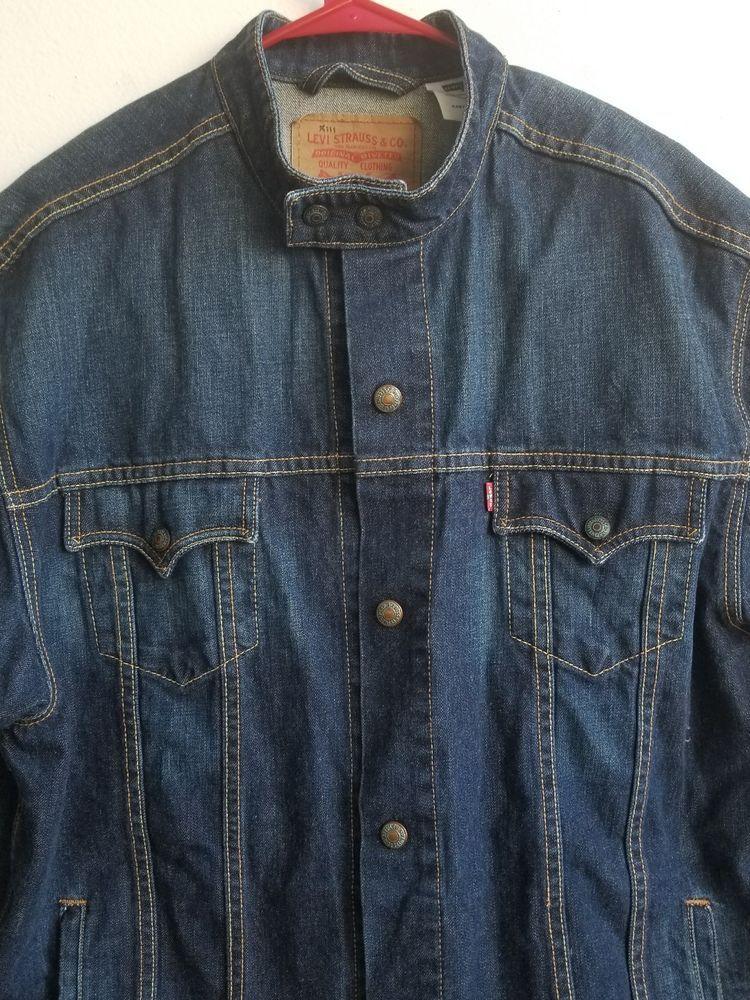 fd75b483e11 LEVI S 70550-0496 Easy Rider Snap Button Denim Men s Size XXL Jean Jacket   Levis  JeanJacket