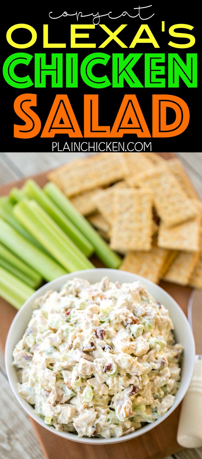 Olexa S Chicken Salad This Is The Best Chicken Salad Ever So Good Chicken Mayo Original Chicken Salad Recipe Chicken Salad Recipes Smoked Chicken Salad