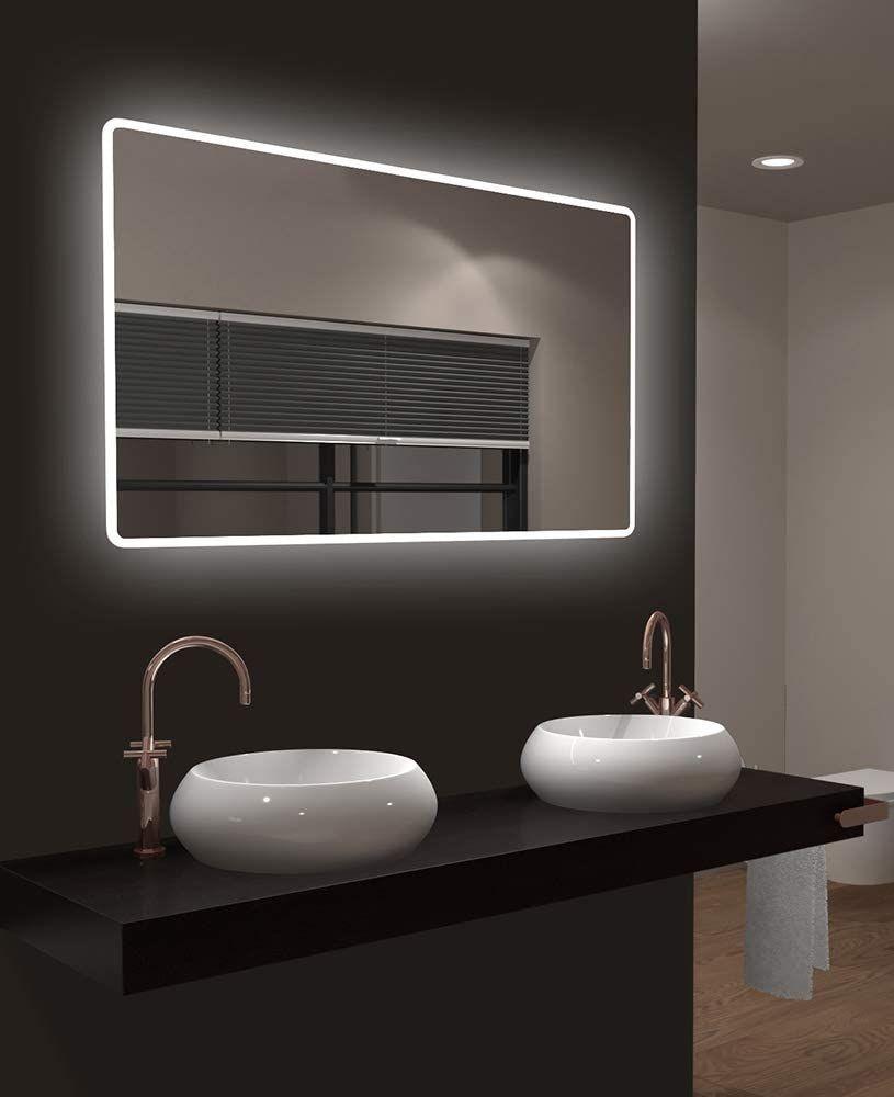 Led Badspiegel Talos Moon 120x70 Cm Lichtfarbe 4200k Modernes Design Und Hochwertige Bes Badezimmerspiegel Badezimmerspiegel Beleuchtet Badezimmerspiegel Led