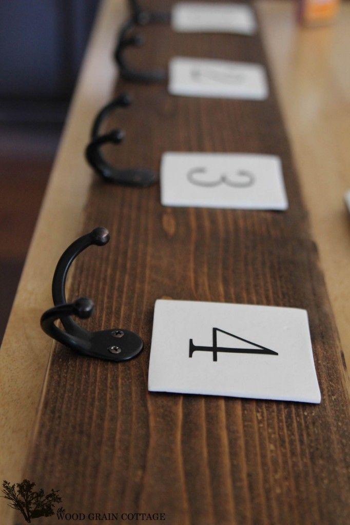 Fence Picket Coat Rack - The Wood Grain Cottage