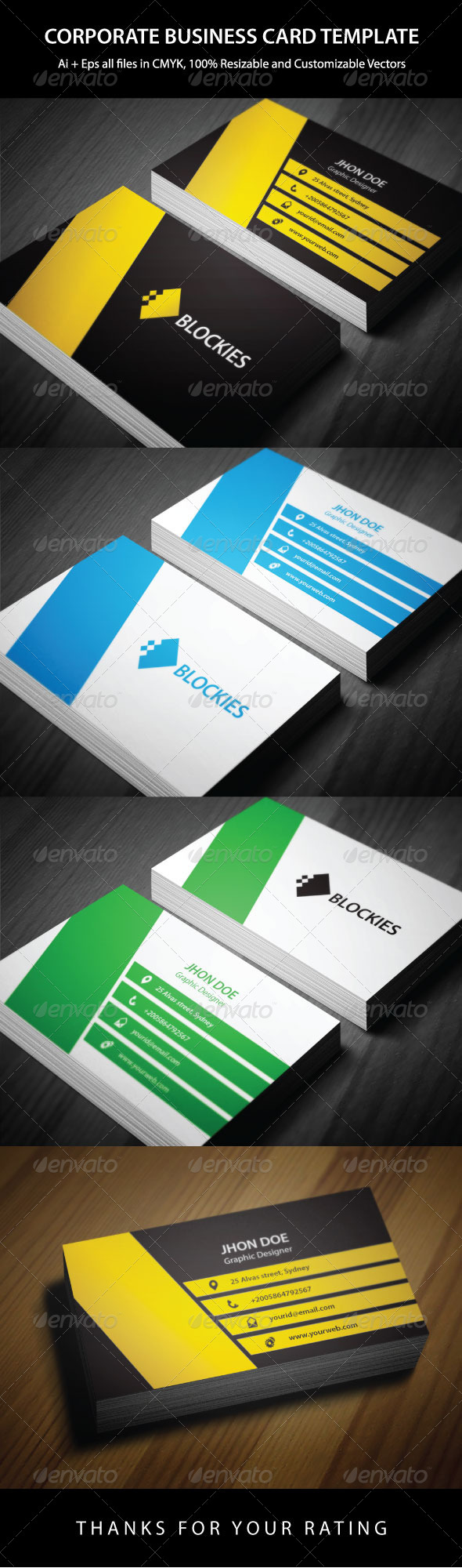 Corporate business card template pinterest corporate business corporate business card template graphicriver an excellent business card template which is suitable for any corporate or personal use reheart Image collections