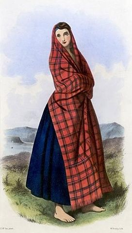 Innovative Highland Scottish CostumeArisaid Corset Tartan Tam