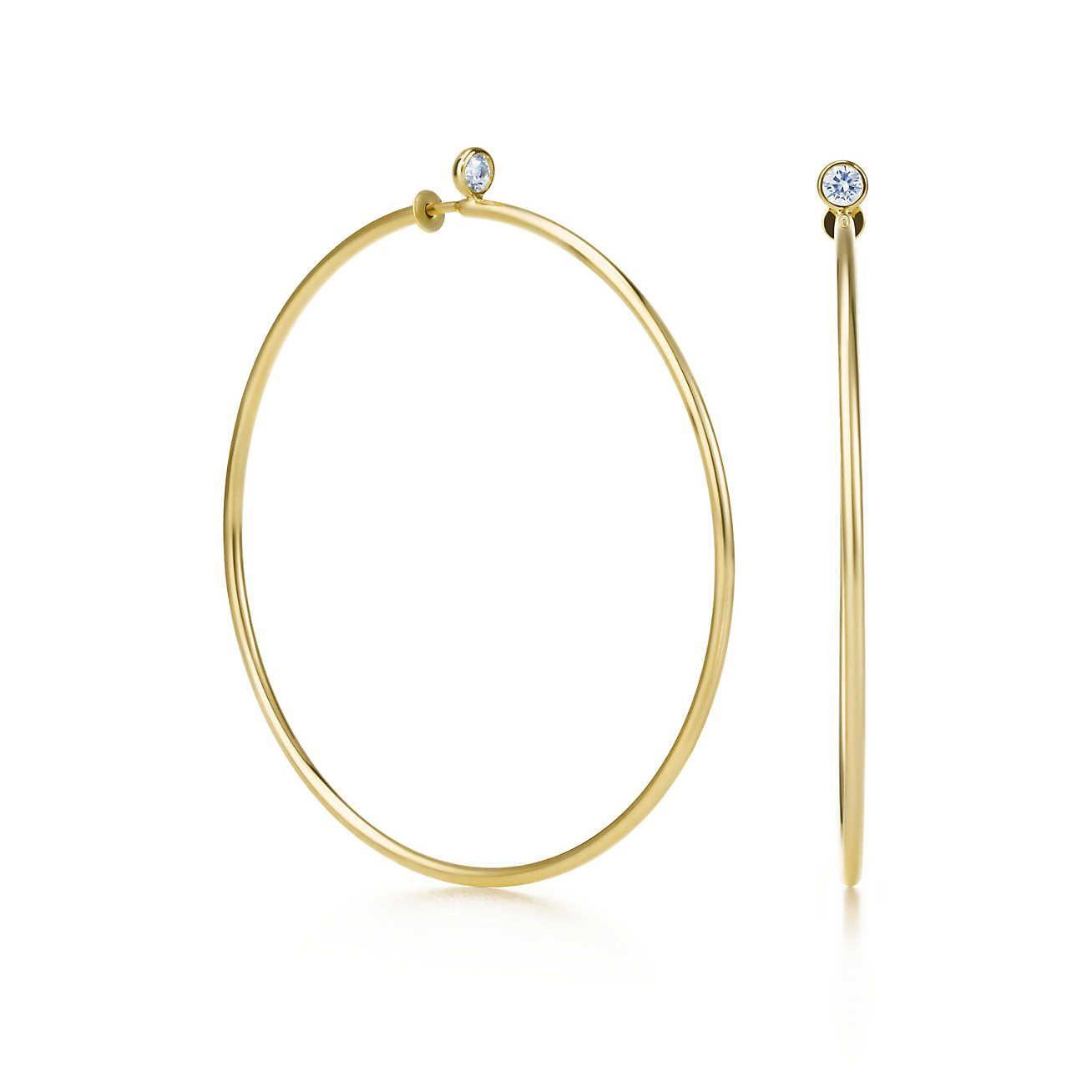 282eaa9f2a8 Elsa Peretti® Diamond Hoop Earrings