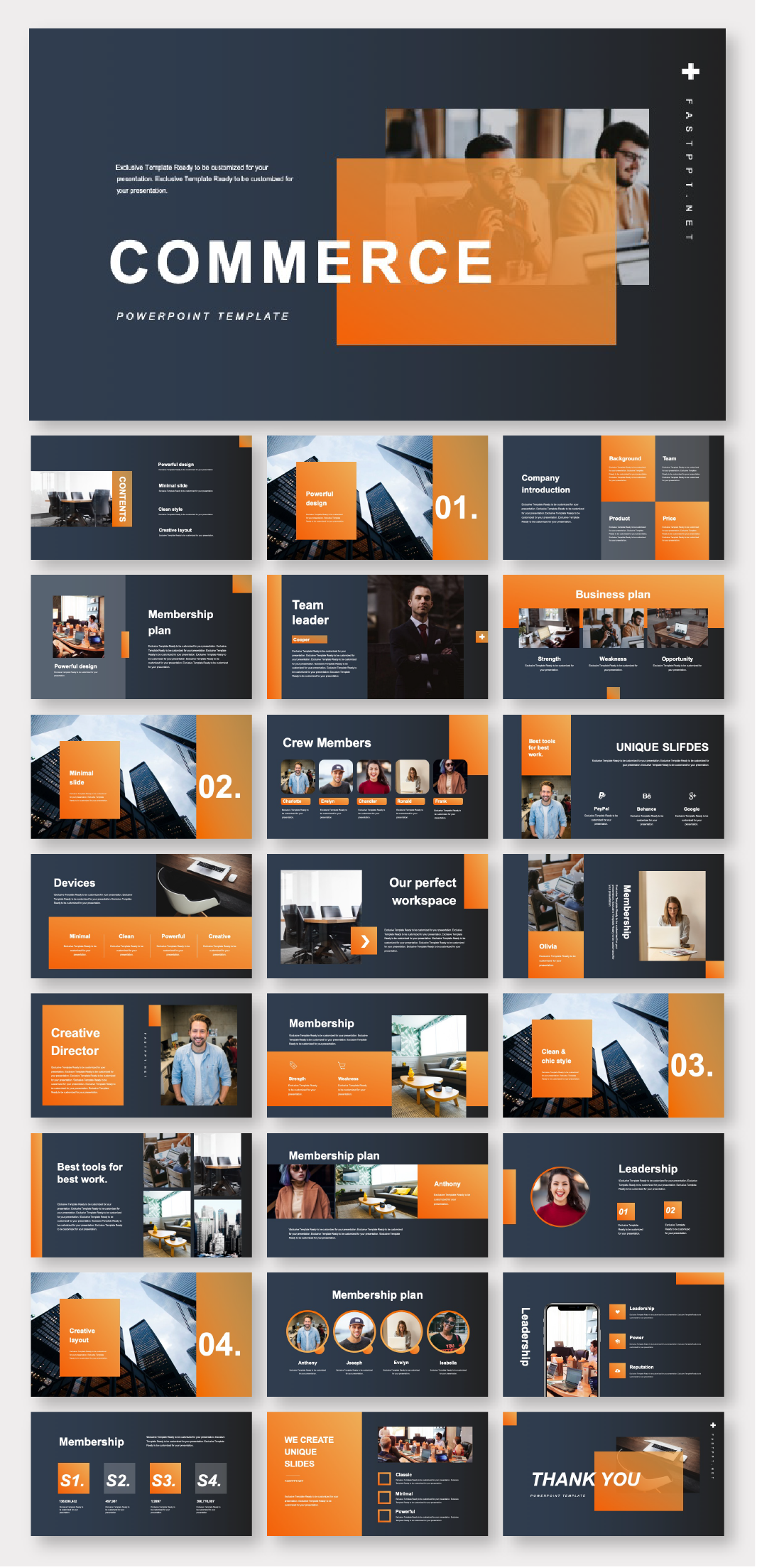 Art & Minimalist Style Business Presentation Template – Original and high quality PowerPoint Templates download