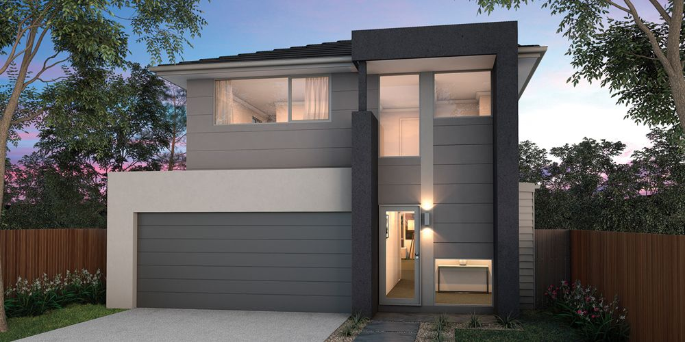 Casa con hermoso dise o moderno con 4 dormitorios y 2 for Garajes modelos