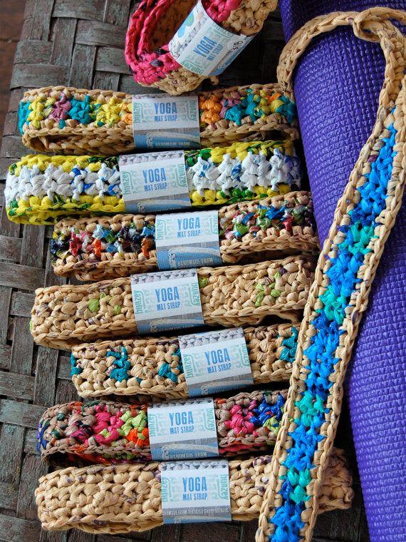 Plastic Bag Yoga Mat Strap Diy Crochet Yoga Mat Bag Recycled