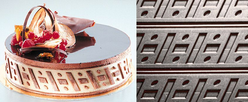 Silicone Relief Decor Mats - Variation to create with ease joconde cookie genoise sponge cake strips for decorating entremets and cakes perfect for baking or freezing
