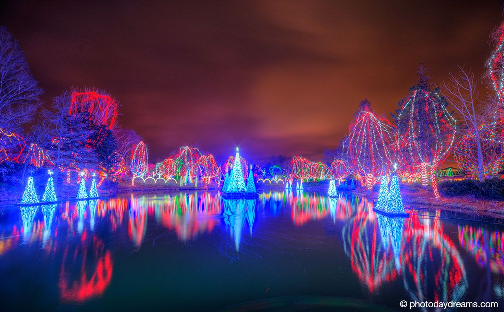 Long Exposure Photo Of The Christmas Lights Show At The Columbus Zoo Nice Ideas