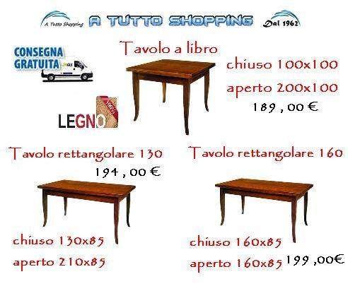 Tavoli In Legno Allungabili Varie Misure A Cervia Kijiji Annunci Di Ebay Tavolo Legno Allungabile Tavoli In Legno Legno