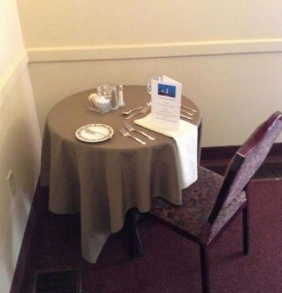 Forever alone: table for one
