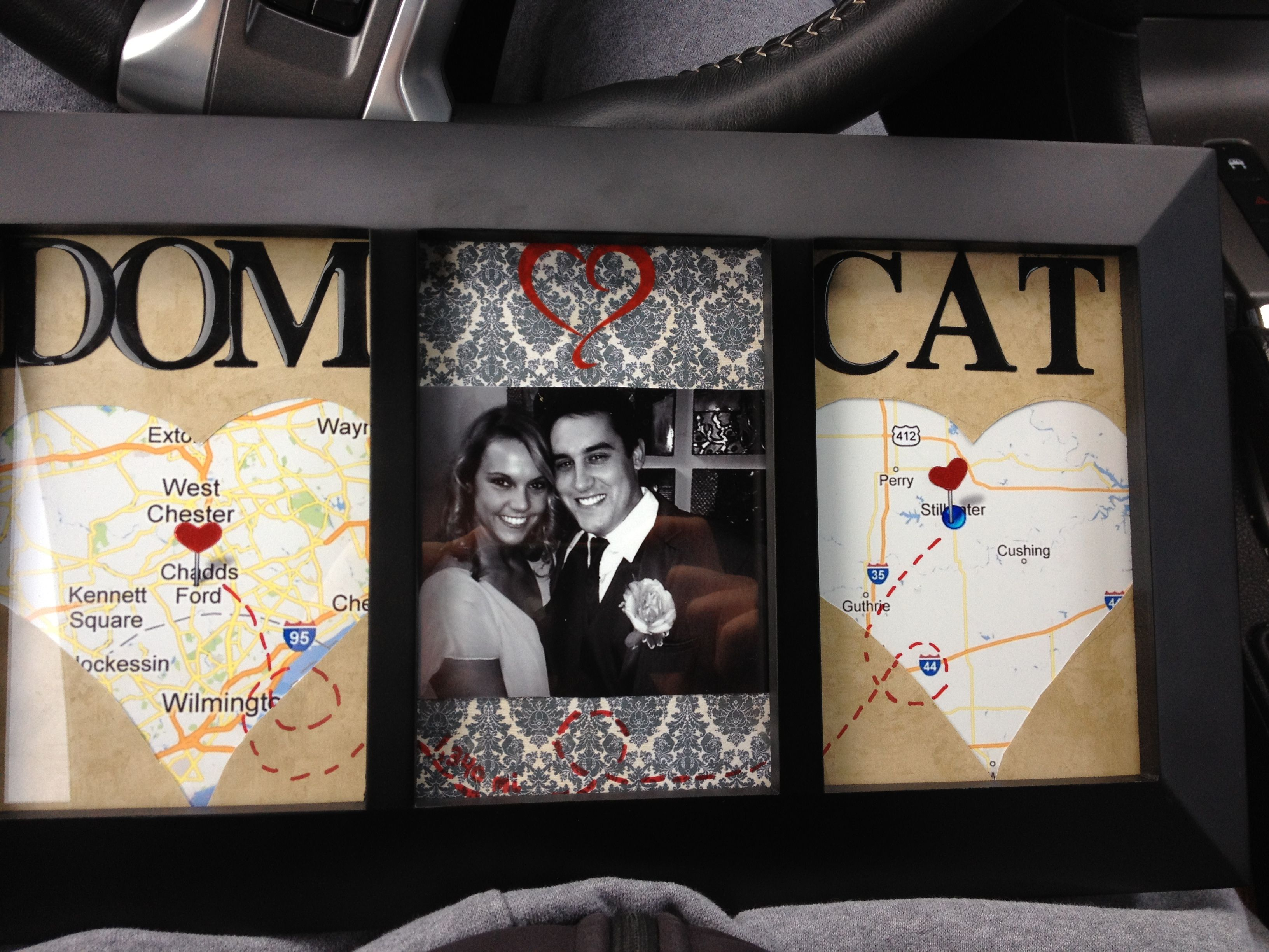 Scrapbook ideas relationships - Cute Idea For When Hubs And I Were Living Across The Country From Each Other