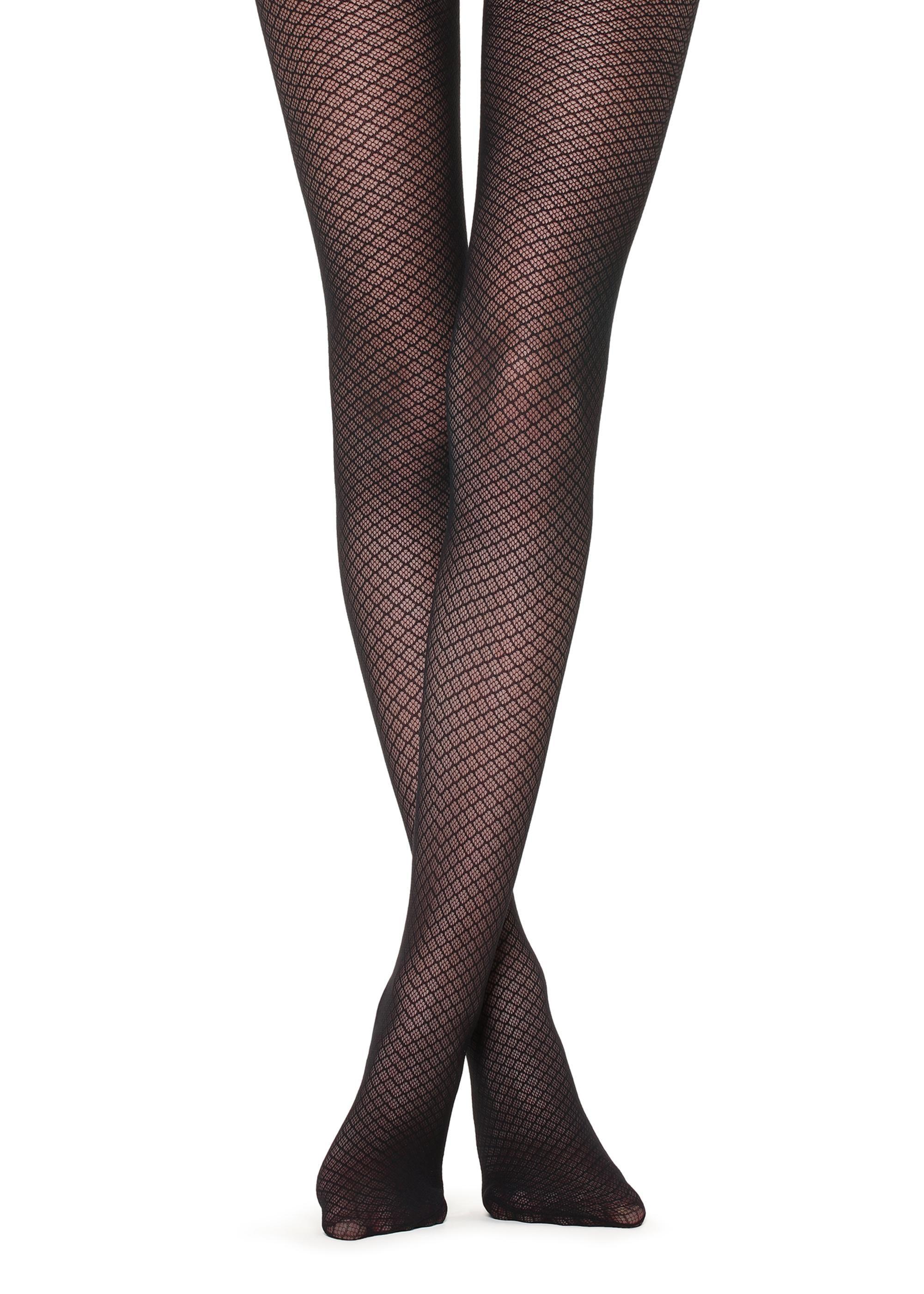 Patterned Fashion Tights Black Pantyhose