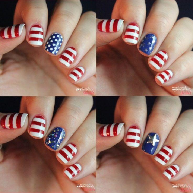 Diy patriotic nails in four different ways this is for all the diy patriotic nails in four different ways this is for all the american women out solutioingenieria Images