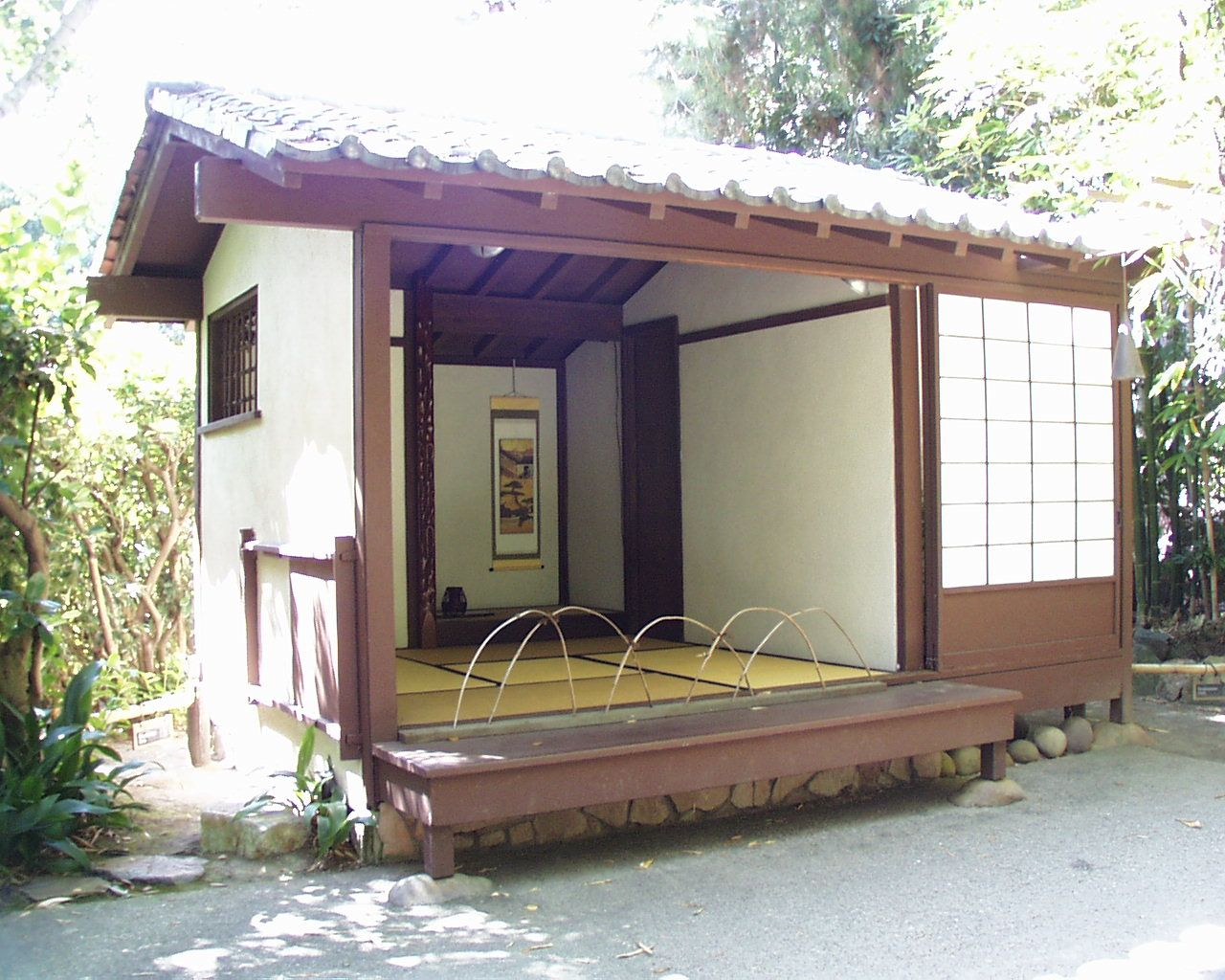 Good Simple Tea House, Interior/exterior Space Has Multiple Possibilities With  Sliding Doors