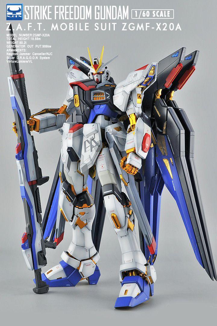 Pg 1 60 Strike Freedom Gundam Customized Build Gundam Gundam Model Strike