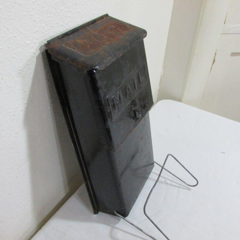 Metal Mailbox Newspaper Holder Vintage Apartment Building Wall Etsy Metal Mailbox Vintage Apartment Vintage Mailbox