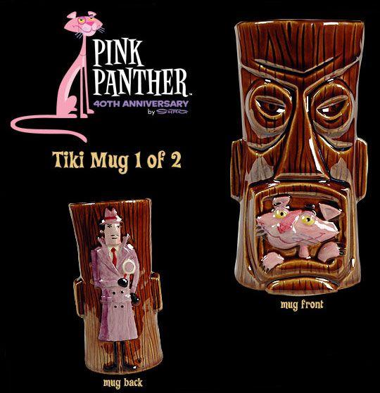New Pink Panther 40th Anniversary by SHAG Tiki Mug 1 of 2!