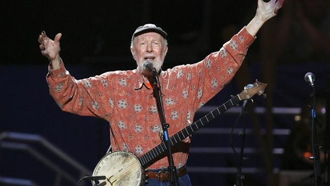 NY school names theater after singer Pete Seeger