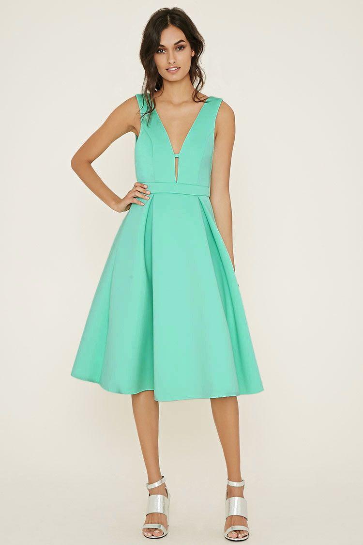 Pleated Scuba Knit Dress | Forever 21 - 2000176252 | My stitch fix ...