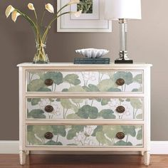 RoomMates Lily Pads Peel & Stick Wallpaper Cream/G