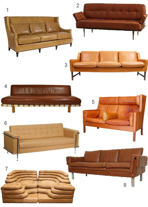 Did Yesterdayu0027s Post, Montage: Cognac Colored Leather Sofas Convince You  That Leather Sofas,