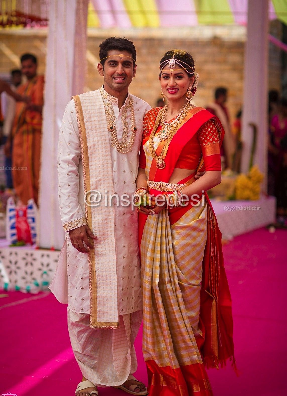 south indian bride and groom woman clothing in 2019