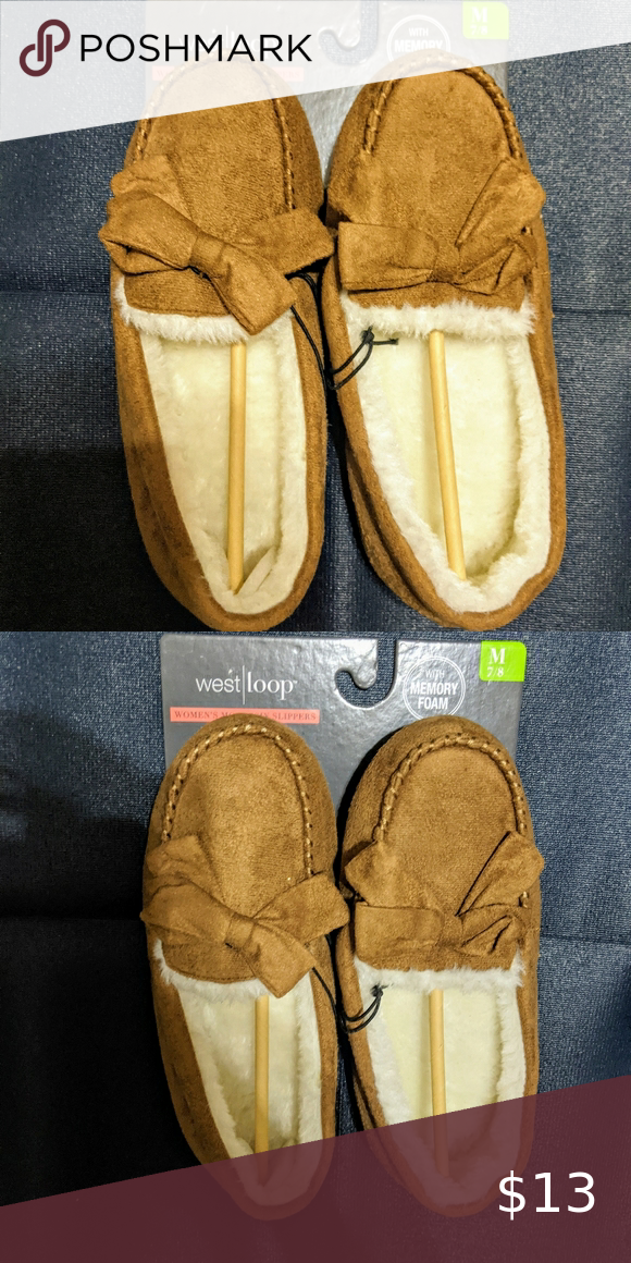 Women's Light Brown Moccasin Slippers