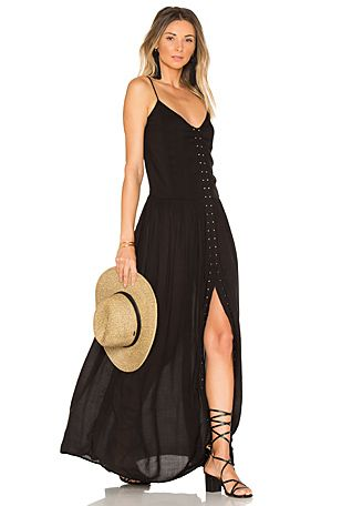 68fa731014 One Teaspoon The Edie Wrap Dress en Cream   Negro