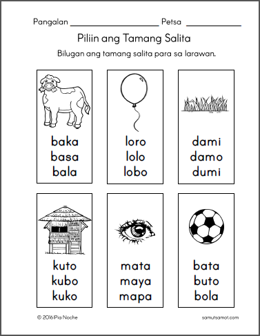 Free printable worksheets for Filipino kids | 1st grade ...