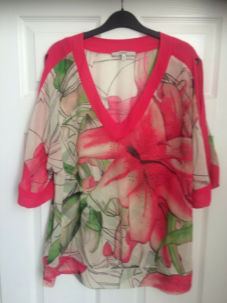 766ed94c62a3 Next Sheer Open Shouldered Summer Top Floral Red Size 18 #fashion #clothing  #shoes