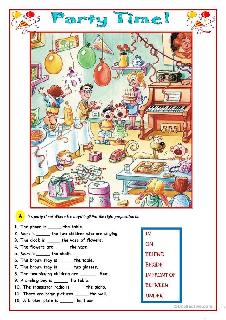 party time worksheet free esl printable worksheets made by